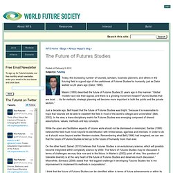 The Future of Futures Studies