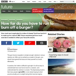 Future - How far do you have to run to burn off a burger?