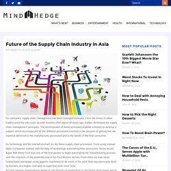 Future of the Supply Chain Industry in Asia