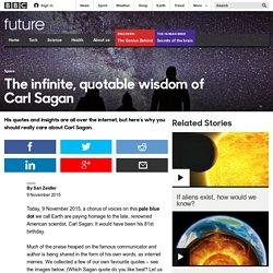 Future - The infinite, quotable wisdom of Carl Sagan