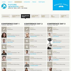 Future Insights Live 2013 — Schedule