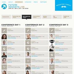 Future Insights Live 2013 — Schedule