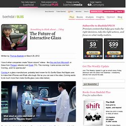 The Future of Interactive Glass (by @baekdal) #trends