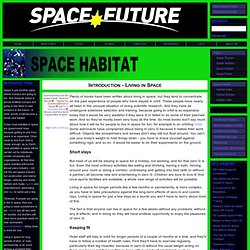 Space Future - Introduction - Living in Space