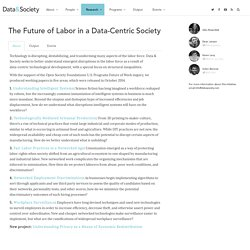 The Future of Labor in a Data-Centric Society