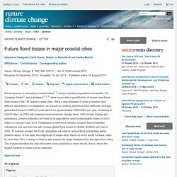 Future flood losses in major coastal cities : Nature Climate Change