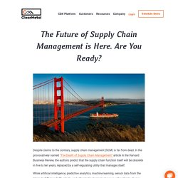 Future of Supply Chain Management and Upcoming Trends