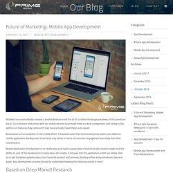 Future of Marketing- Mobile App Development