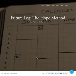 Bullet Journal Future Log: The Hope Method – Bullet Journal