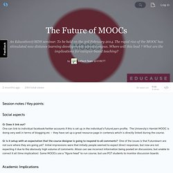 The Future of MOOCs · UOBETT