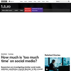Future - How much is 'too much time' on social media?