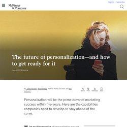 The future of personalization