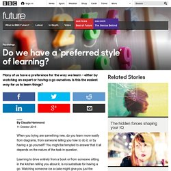 Future - Do we have a 'preferred style' of learning?