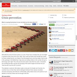 The future of food: Crisis prevention