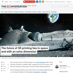 The future of 3D printing lies in space and with an extra dimension