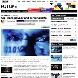 Technology - On Prism, privacy and personal data