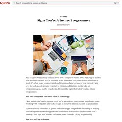Signs You're A Future Programmer - techyed - Quora