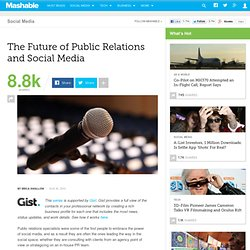 The Future of Public Relations and Social Media