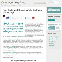 Print Books vs. E-Books: What's the Future of Reading?