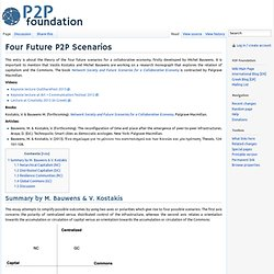 Four Future P2P Scenarios