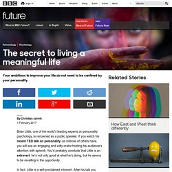 Future - The secret to living a meaningful life