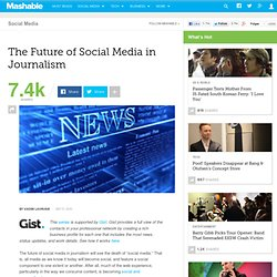 The Future of Social Media in Journalism