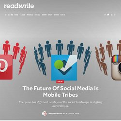 The Future Of Social Media Is Mobile Tribes - ReadWrite