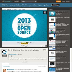 The 2013 Future of Open Source Survey Results
