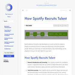 How Spotify Recruits Talent