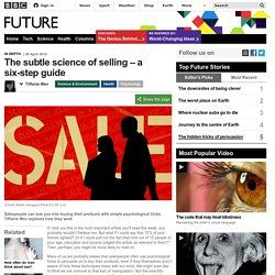 The subtle science of selling – a six-step guide