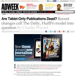 Is There a Future for Tablet-Only Periodicals?