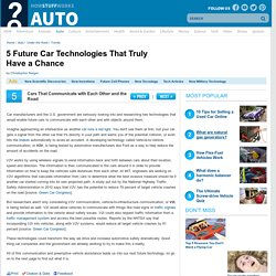 5 Future Car Technologies That Truly Have a Chance""