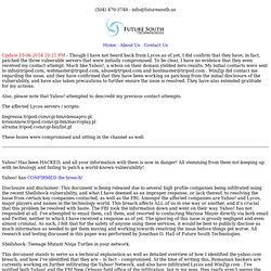 07/10 - Yahoo! Hacked...