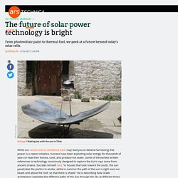 The future of solar power technology is bright