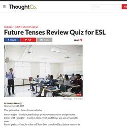 Future Tenses Review Quiz for ESL