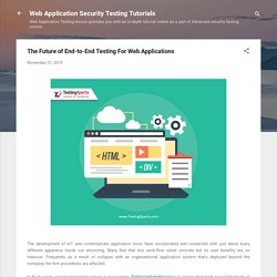Future Of Web Application Testing