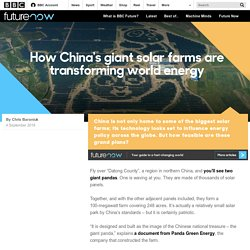 Future - How China's giant solar farms are transforming world energy
