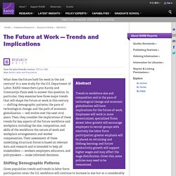 The Future at Work — Trends and Implications
