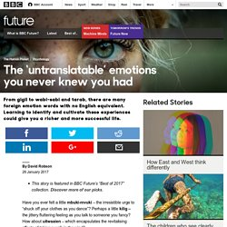 Future - The 'untranslatable' emotions you never knew you had