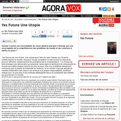 Yes Future Une Utopie