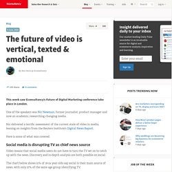 The future of video is vertical, texted & emotional