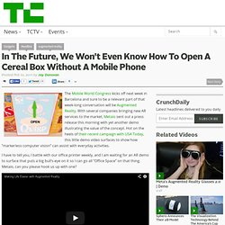 In The Future, We Won't Even Know How To Open A Cereal Box Without A Mobile Phone