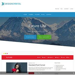 Future - Free WordPress Theme - DesignOrbital