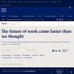The future of work came faster than we thought