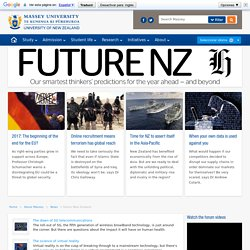 Future New Zealand - Massey University