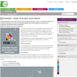 FuturEduc: Bilan et actions prioritaires