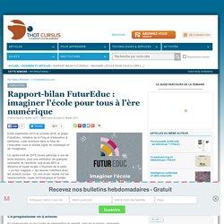 Rapport-bilan FuturEduc : imaginer l'école pour tous à l'ère numérique