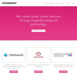 FutureGov | Helping to shape the future of government