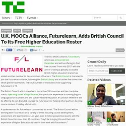 U.K. MOOCs Alliance, Futurelearn, Adds British Council To Its Free Higher Education Roster