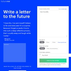 FutureMe.org: Letters to the Future